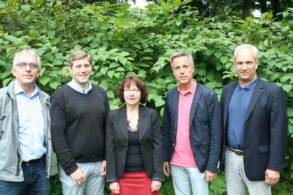 Von links nach rechts: Herr Theismann, Herr Butkus, Frau Brüsse-Haustein, Herr Horas, Herr Schmitt