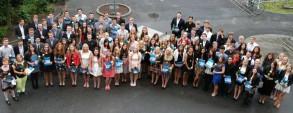 Die Abschlussklasse 2013 des Windthorst-Gymnasiums feierte den Abschied von der Schulzeit.