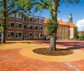Der Schulhof des Windthorst-Gymnasiums Meppen ist umgestaltet worden und wird am Sonntag präsentiert. Foto: Grünplaner