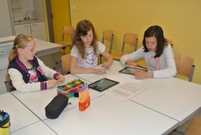 Tag der Talente am WGM: Kreatives Schreiben am iPad.