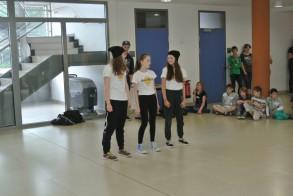 Tag der Talente am WGM: Die Breakdance-AG sorgt für Unterhaltung.
