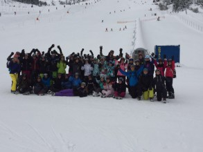 Alle Teilnehmer des Skikurses 2016.