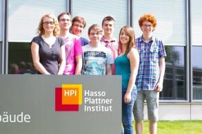 Teilnehmer beim HPI-Sommercamp. Ganz rechts: Jonas Suilmann vom WGM.