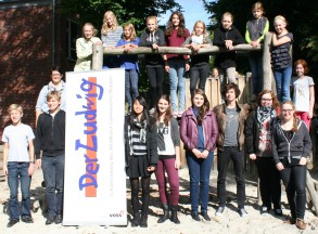 """Das Redaktionsteam unserer Schülerzeitung """"Der Ludwig"""" im September 2013"""